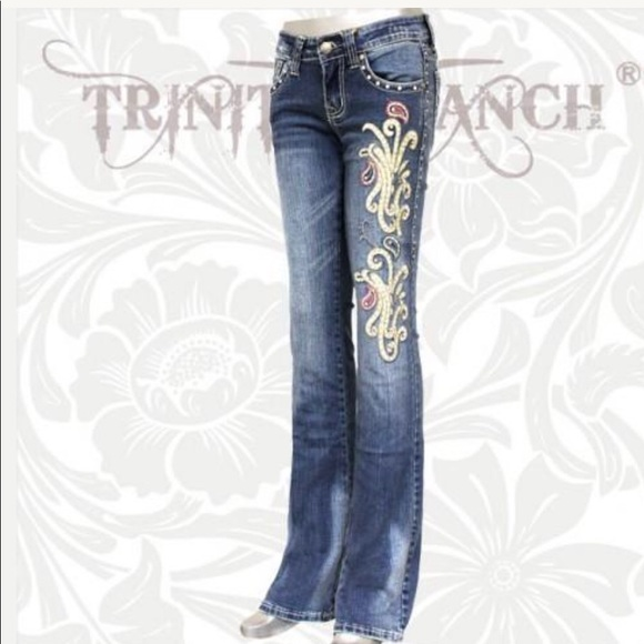 Montana West Trinity Ranch Jeans Boot Cut Discontinued Western Junior Jeans